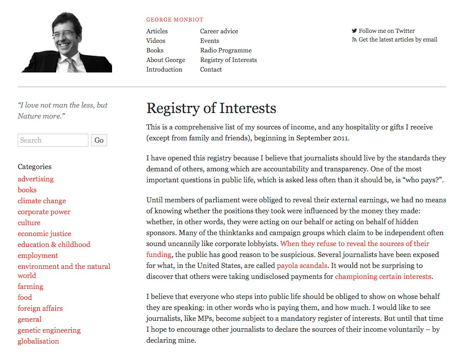 Registry of Interest