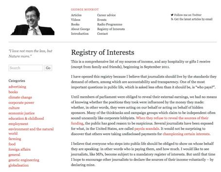 Registry of Interest